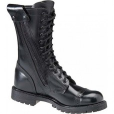 "Corcoran 10"" Black Leather Side Zip Lug Sole Toe Cap Jump Boots 985"