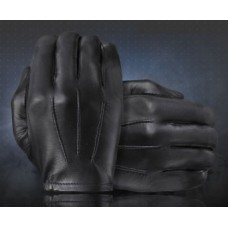 Tough Gloves Black Leather Ultra Thin Patrol Gloves TD302