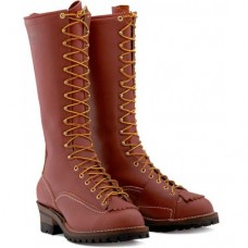 "Wesco 16"" Redwood Leather Highliner Boots RW9716100"