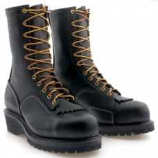 "Wesco 10"" Black Leather VoltFoe Boots EHBK5710109"