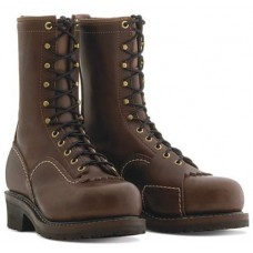 "Wesco 10"" Brown Leather Voltfoe Boots EHBR57101270"