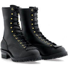 "Wesco 10"" Black Leather Firestormer Boots BKF310100F"