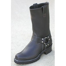 "Wesco 11"" Black Leather Harness Boots 7700H100"