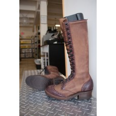 8.0 C Womens Wesco 16 Inch Carrie Linn, Brown Distressed Leather