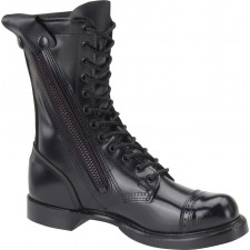 "Corcoran 10"" Black Leather Side Zip Dress Sole Toe Cap Jump Boot 995"