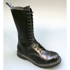 Gripfast 14 Eyelet Black Hi-Shine Leather Steel Toe Boots GS1018