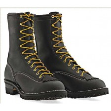 """Wesco Jobmaster 10"""" Black Leather Lace Up Boots 110100"""