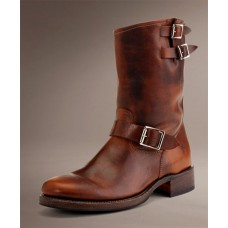 "Frye 9"" Rand Engineer Tobacco Brown Leather 87240"