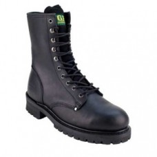 "Golden Fox 10"" Steel Toe Black Leather Logger 1097T"